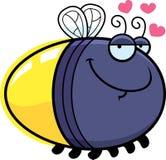Beeldverhaalglimworm in Liefde Stock Foto's