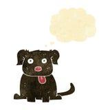 beeldverhaalhond met gedachte bel Royalty-vrije Stock Afbeeldingen