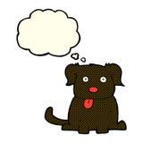 beeldverhaalhond met gedachte bel Stock Foto's