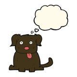 beeldverhaalhond met gedachte bel Royalty-vrije Stock Afbeelding