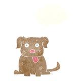beeldverhaalhond met gedachte bel Stock Foto