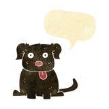 beeldverhaalhond met toespraakbel Stock Afbeelding