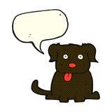 beeldverhaalhond met toespraakbel Stock Foto's