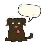 beeldverhaalhond met toespraakbel Stock Foto