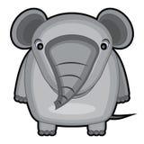 Beeldverhaalillustratie van een babyolifant Stock Afbeelding