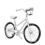 Beeldverhaalillustratie van fiets royalty-vrije illustratie