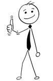 Beeldverhaalillustratie van Gelukkige Glimlachende Werkgever, Manager of Businessma royalty-vrije illustratie