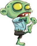 Beeldverhaalillustratie van leuke groene zombie Royalty-vrije Stock Afbeelding