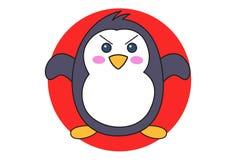 Beeldverhaalillustratie van Leuke Pinguïn royalty-vrije illustratie