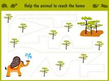 Beeldverhaalillustratie van onderwijs Passend spel voor peuterjonge geitjes Royalty-vrije Stock Foto