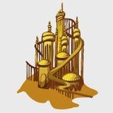 Beeldverhaalkasteel van het Gouden zand royalty-vrije illustratie