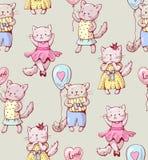Beeldverhaalkatten Stock Afbeelding