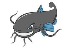 Beeldverhaalkatvis, vector Royalty-vrije Stock Foto's