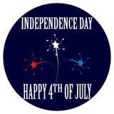 Beeldverhaalkenteken voor de Onafhankelijkheid Dag vierde van Juli Royalty-vrije Stock Fotografie