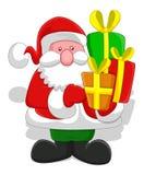Beeldverhaalkerstman - Kerstmis Vectorillustratie Stock Fotografie