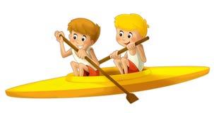 Beeldverhaalkind opleiding - illustratie voor de kinderen Royalty-vrije Stock Afbeeldingen