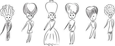 Beeldverhaalkoningshuis het dansen. Royalty-vrije Illustratie