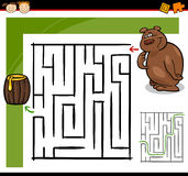 Beeldverhaallabyrint of labyrintspel Royalty-vrije Stock Afbeeldingen