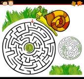 Beeldverhaallabyrint of labyrintspel Royalty-vrije Stock Foto's