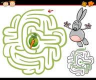 Beeldverhaallabyrint of labyrintspel Stock Fotografie