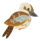 Beeldverhaalpapegaai - geïsoleerde kookaburra - Stock Foto
