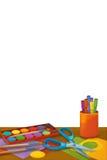 Beeldverhaalruimte met dieren - illustratie voor de kinderen Stock Foto