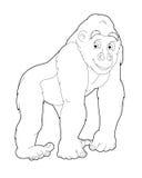 Beeldverhaalsafari - kleurende pagina - illustratie voor de kinderen Stock Foto's