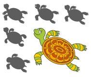 Beeldverhaalschildpad Stock Afbeelding