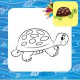 Beeldverhaalschildpad Kleurende pagina Royalty-vrije Stock Afbeeldingen