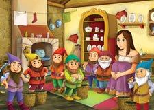 Beeldverhaalsprookje - illustratie voor de kinderen royalty-vrije illustratie
