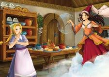 Beeldverhaalsprookje - illustratie voor de kinderen Royalty-vrije Stock Foto's