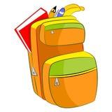 Beeldverhaalstudent Book Bag Stock Afbeelding