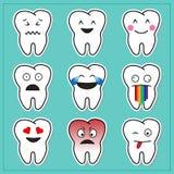 Beeldverhaaltanden Emoticons Stock Foto