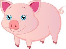 Beeldverhaalvarken royalty-vrije illustratie