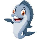 Beeldverhaalvissen het golven vector illustratie