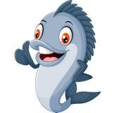Beeldverhaalvissen het golven stock illustratie