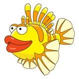 Beeldverhaalvissen lionfish stock illustratie