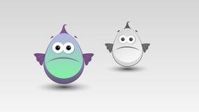 Beeldverhaalvissen in Vector Royalty-vrije Stock Afbeelding