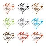 Beeldverhaalvos in een bospictogramreeks, vectorlasercutmalplaatje De kunstillustratie van de lijn Bosdier vector illustratie