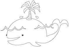 Beeldverhaalwalvis royalty-vrije illustratie