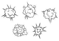 Beeldverhaalwolken van explosie royalty-vrije illustratie