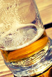 Been drinking beer in a glass. Stock Photography