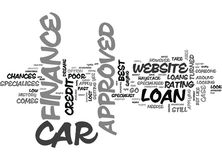Been Turned Down Elsewhere Then Go For Approved Car Finance Word Cloud Royalty Free Stock Photography