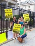 Beenden Sie die Blockade von Kuba Stockbilder