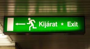 Beenden Sie kennzeichnen innen Metrountergrund Lizenzfreies Stockbild