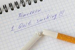 Beenden Sie Smoking Stockfotografie