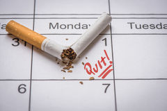 Beenden Sie Smoking lizenzfreies stockbild