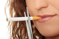 Beenden Sie zu rauchen Stockbild