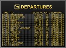 Beendete Flüge stockbilder