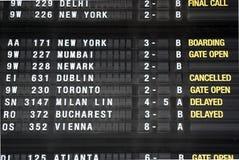 Beendeter Flug von Brüssel nach Dublin Lizenzfreie Stockfotografie